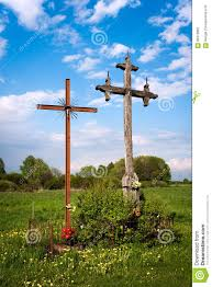 roadside crosses roadside crosses stock photo image 66373882