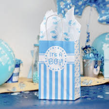 baby shower gift bags it s a boy baby shower favor bags and tissue paper bundle set of