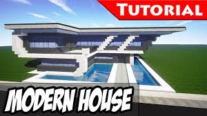 minecraft easy modern house mansion tutorial 8 download