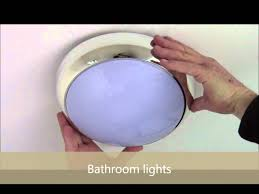 how to change lamp to bathroom light disco 16w ip44 youtube