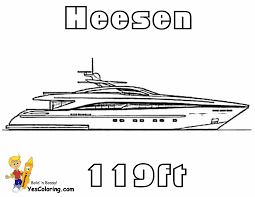cool yacht ship coloring pages 119 ft racing yacht http www