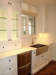 Apron Sink With Backsplash by Throw In Some Butcher Block Countertops And A Subway Tiled