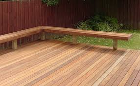 how to build deck bench seating buildeazy how to build a bench to a deck