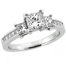 princess cut wedding ring princess cut 3 engagement ring ideals