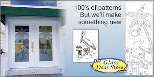 Hurricane Exterior Doors Etched Glass Doors Frosted Glass Doors Tropical Glass Doors