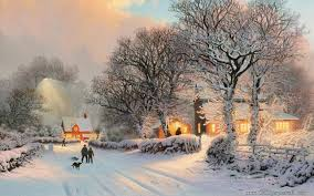 winter christmas illustrations 1280x800 landscape wallpapers