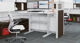 Cheap Height Adjustable Desk by Shop Steelcase Series 7 Electric Height Adjustable Desk