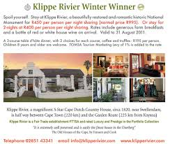 special of the week klippe rivier country house travel blog