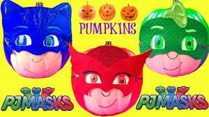 pj masks catboy owlette u0026 gekko halloween pumpkins full of toys