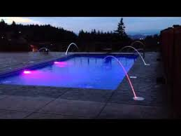zodiac led pool lights jandy laminar jets pool built by owens pools spas oregon youtube