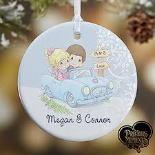 Personalised Christmas Ornaments - personalized christmas ornaments precious moments romantic couple