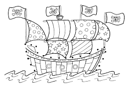 pirate ship coloring pages for kids print coloring pages