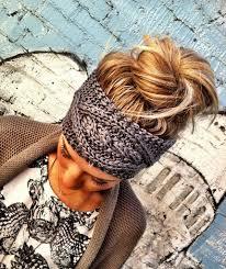 ear warmer headband boho cable knit ear warmer headband charcoal gray best selling