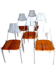 Aluminum Dining Room Chairs Robert Josten Cast Aluminum Dining Chairs S 6 Chairish