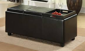 Black Storage Ottoman With Tray Black Storage Ottoman With Tray Interior Design Ideas Cannbe