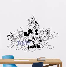 compare prices on pluto wall sticker online shopping buy low mickey minnie mouse donald goofy pluto wall decal vinyl sticker art mural nursery cartoon decor h57cm