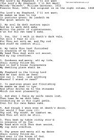 Comfort Me Lyrics Old English Song Lyrics For The Lord U0027s My Shepherd I U0027ll Not Want