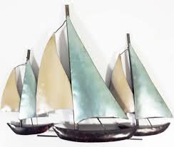 Sailboat Home Decor Metal Sailboat Wall Art Saplinghouse