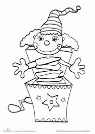 Jack In The Box Worksheet Education Com Box Coloring Pages