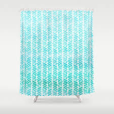 Chevron Pattern Curtains Blue And Chevron Shower Curtains Society6