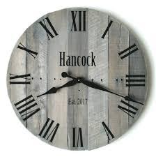 24 large wall clock wedding gift keepsake reclaimed