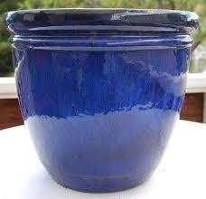 blue glazed ceramic garden pots beautiful ceramic garden pots