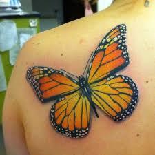 half back shoulder monarch butterfly tattoos