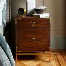 malone campaign nightstand walnut west elm