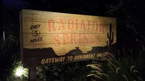 radiator springs gateway to ornament valley sign the s