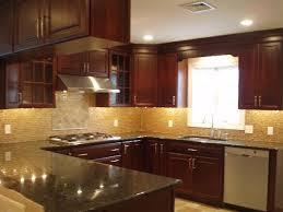 traditional kitchen backsplash inspirations kitchen backsplash glass tile dark cabinets cherry