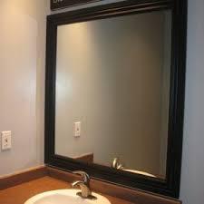 Bathroom Mirror Cost Bath Beautiful Bathroom Design With Framed Bathroom Mirrors