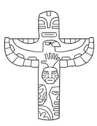 totem pole coloring pages thanksgiving song and color a totem