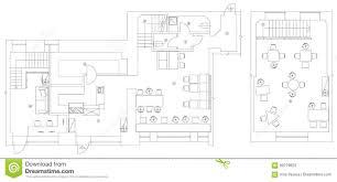 standard furnitureols floor plans used architecture icons set