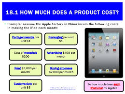 18 1 how much does a product cost