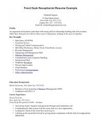 Help Desk Resume Examples by Resume Summary For Help Desk Resume For Front Desk Receptionist