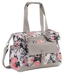 laura ashley rose print satchel diaper bag babies
