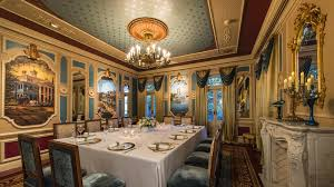 seven course meal at private disneyland dining room comes with a