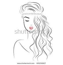 vector sketch beautiful braid fashion stock vector 516989968