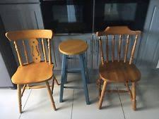 wooden farmhouse chairs ebay