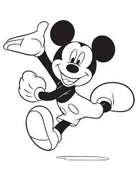 mickey mouse running clipart 9