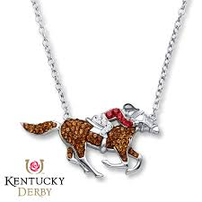 kay jewelers charmed memories kay kentucky derby necklace brown u0026 red crystals sterling silver