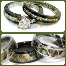 camouflage wedding rings camo wedding ring sets for him and