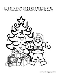 christmas santa mario coloring pages printable