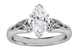 celtic engagement rings engagement ring marquise diamond triquetra celtic engagement ring