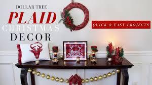 dollar tree christmas decorations diy plaid christmas decor