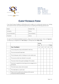 training evaluation sheet and feedback form sample for your