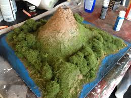 making a volcano model