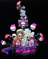high cake topper high with skullettes birthday cake topper centerpiece