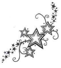 nautical stars and music tattoo designs