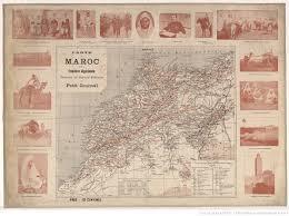 bureau militaire carte du maroc et de la frontière algérienne dressée au bureau